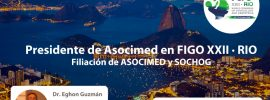 PRESIDENTE DE ASOCIMED · FIGO XXII · RIO · 2018