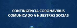 CONTINGENCIA CORONAVIRUS – COMUNICADO A NUESTRAS SOCIAS
