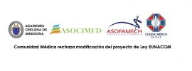 Comunidad Médica rechaza modificación del proyecto de Ley EUNACOM