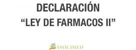 DECLARACIÓN LEY FARMACOS II