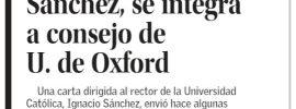 Rector UC, Ignacio Sánchez, se Integra a Consejo de U. de Oxford